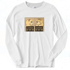 Pollon Arrest Vintage 90s Long Sleeve Shirt Graphic Tees, Graphic Sweatshirt, Short Models, Different Seasons, 90s Outfit, Out Of Style, Light Colors, Going Out, Long Sleeve Shirts