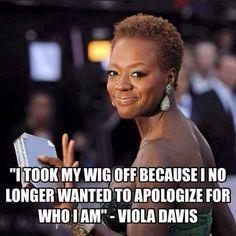 Viola Davis natural hair quote