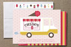 Ice Cream Truck Invites {Minted}
