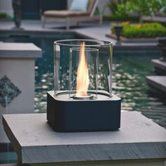 Compact and portable, the Centerpiece Fire Lamp gives off a lovely glow wherever you choose to put it. It is perfect for a dinner table, coffee table or outdoor table. Outdoor Tables, Outdoor Spaces, Outdoor Decor, Living Etc, Outside Living, Patio Lighting, Pergola Designs, Tropical Decor, Event Decor
