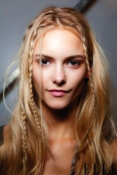 Plaits and braids of different sizes give an instant retro festival flair. Perfect for girls who love their hair down