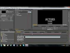 Rolling Credits Tutorial - Adobe Premiere Pro - YouTube