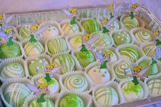 tinkerbell cake balls- school treat for allie