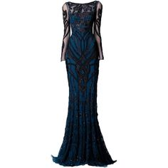 Zuhair Murad Autumn Winter 2014/15 ❤ liked on Polyvore featuring dresses, gowns, long dresses, vestidos, blue dress, zuhair murad, zuhair murad dresses, zuhair murad evening dresses and blue gown
