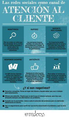 Infografia de Redes Sociales como canal de atención al cliente #RedesSociales #SocialMedia #Infografia