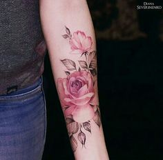 Rose tattoo by Diana Severinenko