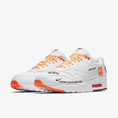 2a206da02591 Nike Air Max 1 Just Do It Collection  White   Total Orange
