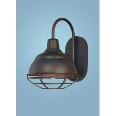 Neo Industrial Rubbed Bronze One Light Sconce Millennium Lighting 1 Light Armed Glass Wall