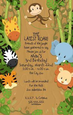 Invitationbox Safari Theme Party Jungle Birthday Parties Fiesta