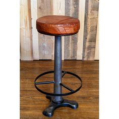 Andy Thornton - Restaurant, Bar & Hotel Furniture & Lighting - Factory bar stool with leather seat / Vintage bar stools from Andy Thornton