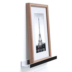 Ledge Shelf, LOYOKI Modern J Shaped Floating Moulding Style Wall Frame Photo Shelf 23 Inch Long White Finish Black Edge -- Quickly view this special  product, click the image : home diy kitchen