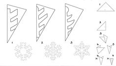 Vorschule Basteln Weihnachten – Rebel Without Applause Diy Christmas Snowflakes, Christmas Origami, Christmas Activities, Christmas Crafts For Kids, Christmas Deco, Xmas Crafts, Simple Christmas, Paper Crafts, Paper Snowflake Template