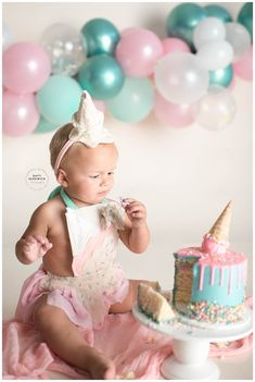 Baby Ice Cream, Ice Cream Theme, Ice Cream Party, Easter Birthday Party, Girl 2nd Birthday, First Birthday Cakes, Birthday Girl Pictures, Birthday Photos, Birthday Ideas