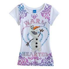 "Disney Frozen ""Warm Hearted"" Olaf Tee - Girls 7-16"