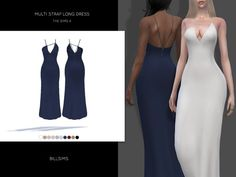 Multi Strap Long Dress by Bill Sims at TSR
