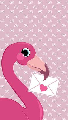 Freebies The Friendly Flamingo Couple Wallpaper, More Wallpaper, Disney Wallpaper, Iphone Wallpaper, Beautiful Wallpapers For Iphone, Cute Wallpapers, Flamingo Decor, Pink Flamingos, Chanel Poster