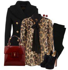 Stylish Eve- want that blouse! Outfits Otoño, Petite Outfits, Stylish Outfits, Fashion Outfits, Stylish Clothes, Winter Outfits, Women's Fashion, Animal Print Fashion, Fashion Prints