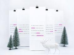 Adventskalender - Adventskalender / Tag Me - ein Designerstück von typealive bei DaWanda