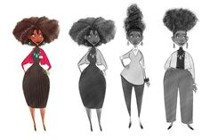 Meg Park — Here are some of the character designs I did (all...