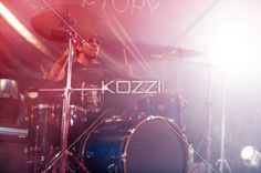 drummer on the drums - A drummer on his drums during a live performance.