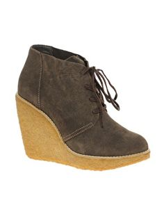 Mango Crepe Wedge Ankle Boots/ Desert boots for fall