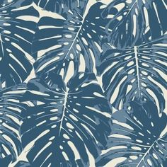 Seabrook Jamaica Prussian Blue And White Wallpaper - Trade - Seabrook Jamaica Prussian Blue And White Wallpaper / Jamaica / Prussian Blue and White