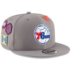 fd973608fa4e8 Men s Philadelphia 76ers New Era Gray 2018 NBA Draft 9FIFTY Adjustable Hat