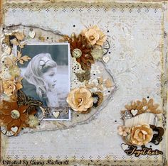 My Crafty Madness: Muted tones...MCS February 2016. Blue Fern Timeless Paper Collection