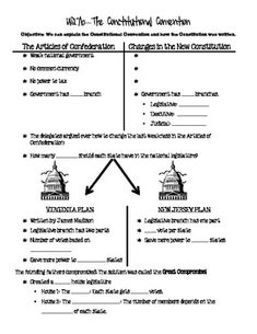 Worksheets Ratifying The Constitution Worksheet the ojays constitution and google on pinterest articles of confederatonconstitutional convention notes