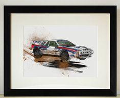 Lancia 037 Group B Rally Car Illustration