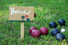 Playing bocce ball with your dad will be a great fun