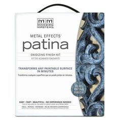 Modern Masters Blue Patina Metal Effects Paint Oxidizing Finish Kit-204337 - The Home Depot