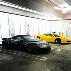 Lamborghini and Ferrari rental cars of South Beach Exotic Rentals #Lamborghini #Ferrari #Exoticrentals #cars #MiamiBeach