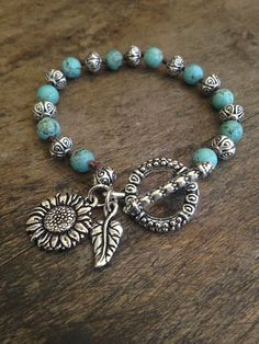 "Sunflower Love Hand Knotted Bracelet ""Beach Chic"""
