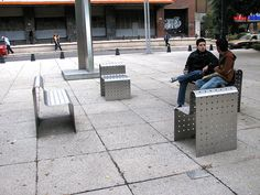 Bench on Paseo de Reforma, Mexico City