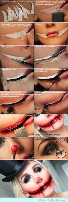 Creepy halloween makeup idea tutorial
