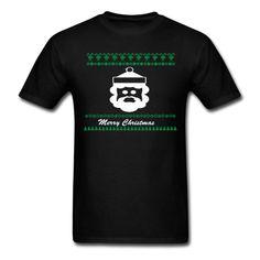 Santa Merry Christmas - Men's T-Shirt Christmas Shirts, Merry Christmas, Custom T Shirt Printing, Apparel Design, Polo Shirt, Santa, Hoodies, Mens Tops, Fashion