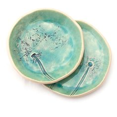 Dandelions set bowl and plate