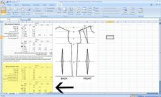 Check out this downloadable block pattern drafting calculator  from Burdastyle user Biz Natch . What it basically does is....you type in ...