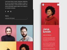Push Website Employees Concept by Samuel Jimenez