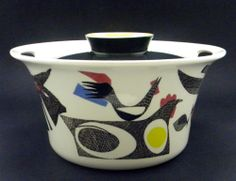 FIGGJO-FLINT-Norway-FLAMEWARE-A-LA-CARTE-LARGE-Covered-Casserole-Modernist Norway, Catering, Retro Vintage, Ceramics, Make It Yourself, Casserole, Concrete, Porcelain, Mid Century
