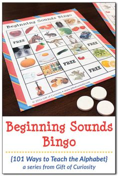 Playing games is a fun way to help kids learn. Use this *FREE* Beginning Sounds Bingo Game to help kids practice identifying the initial sounds of words. This is a great way to help kids with basic phonics skills and sound segmentation. Phonemic Awareness Kindergarten, Preschool Literacy, Science Activities For Kids, Phonics Activities, Alphabet Activities, Kindergarten Activities, Phonological Awareness, Teaching The Alphabet, Learning Letters