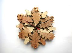 ❋❋❋ Great Thanksgivings sale ! ❋❋❋ -20% Coupon Code HOLIDAYS20 Acorn Clock was made from wooden parts. Wall wood clock is not drawn and holds