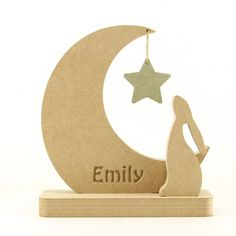 MDF Hare, Moon & Star. Can be bought personailsed or plain. https://www.makersshed.co.uk/product/mdf-personalised/15755-hare-moon-star-personalised