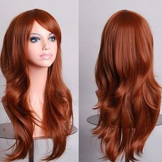 Fashion 70CM Multi-Layered Fluffy Long Wavy Side Bang Multicolor Optional Cosplay Wig