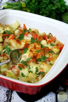 Clean Eating Spicy Italian Cucuzza Squash Bake...vegetarian, gluten-free | The Healthy Family and Home