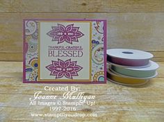 Paisleys and Posies from the new 2016 Stampin' Up! Holiday Catalog! Created by Joanne Mulligan, Independent Stampin' Up! Demonstrator