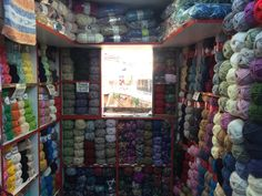 Window of a wool store - Fatih, Istanbul