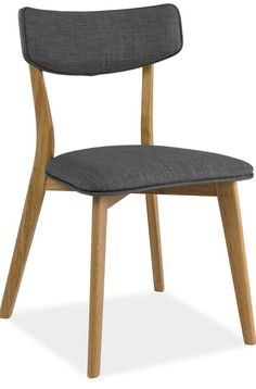 Krzesło KARL - dąb/ciemny szary, Signal - Meble - sklep meble.pl Blond, Dining Chairs, Furniture, Home Decor, Products, Decoration Home, Room Decor, Dining Chair, Home Furnishings