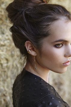Tiny Ear Cuff. Various Colors. // mr kate //